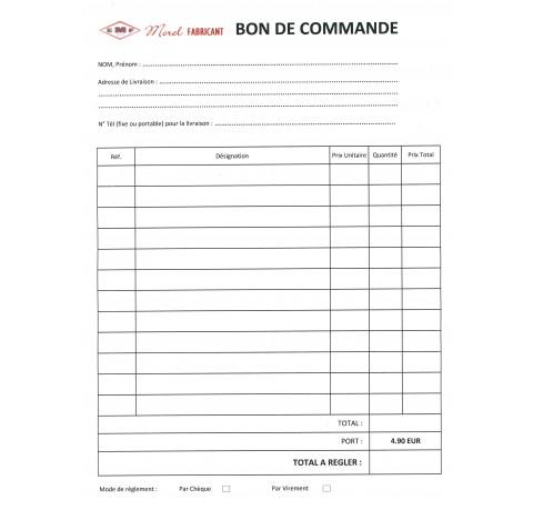 BON DE COMMANDE     à envoyer par mail à contact@morel-fabriquant.fr
